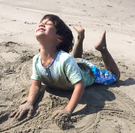 Cousins build a sand… – Mary Anne Mohanraj